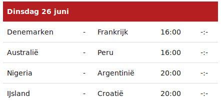 L'instant néerlandais du jour (2018_06_26): Vandaag speelt DK tegen F