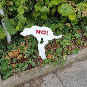Panneau mare des crottes de chien devant votre maison - Doc de Haguenau