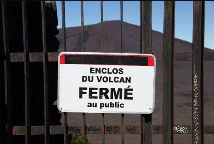 L'accès à l'enclos du Piton de la Fournaise interdit au public 🚷 à compter de ce vendredi 4 décembre 2020
