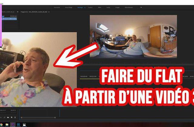 [Vidéo 360°] Éditer et exporter une vidéo 360 en flat - non VR sur Première Pro - FOV constant - FixFrame