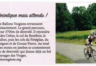 Article du magazine cyclo-sport