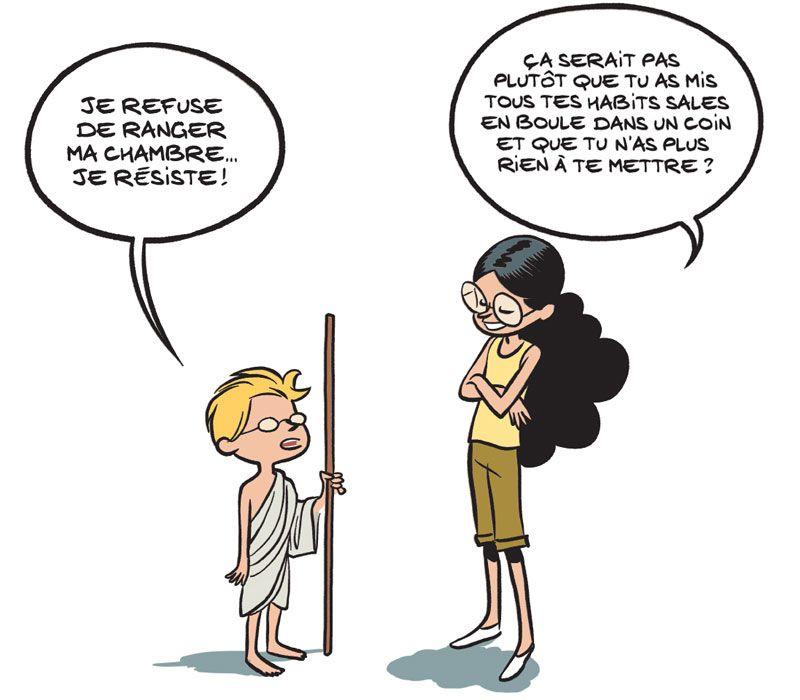 Le fil de l'Histoire – Gandhi. Fabrice ERRE et Sylvain SAVOIA – 2020 (BD) (Dès 6 ans)