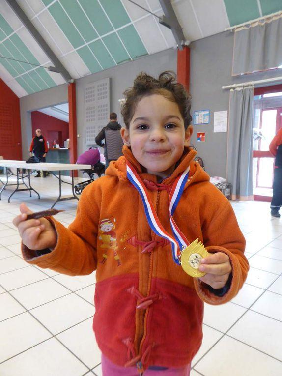 Les podiums des jeunes pour les Chemins Gigouzacois .