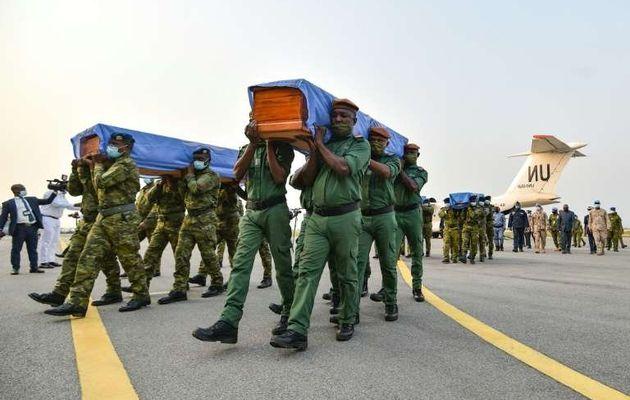Les corps des quatre casques bleus ont été rapatriés