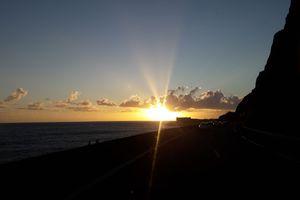 Lever de soleil sur l'île de La Réunion