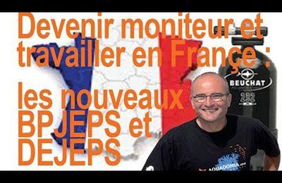 Devenir moniteur de plongée : les nouveaux Bpjeps et Dejeps pour travailler en Françe