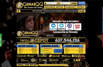 GemarQQ Situs Bandarqq Online dan Poker Deposit Pulsa