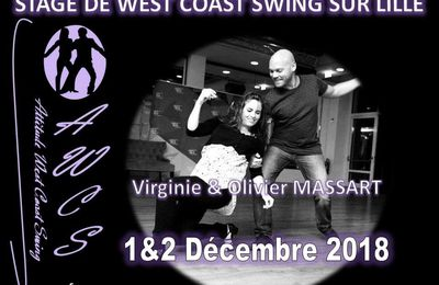 Stage West Coast Swing - Olivier et Virginie Massart - 1& 2 décembre 2018