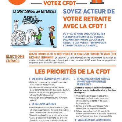 CFDT: élections CNRACL du 1 au 15 mars 2021!!!