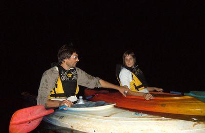 Kayak de nuit à la Rivière Bleue