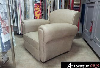 refection fauteuil club arabesque thiers tapissier decorateur 63