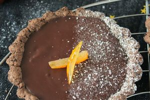 Tartelettes au Chocolat Noir & Orange