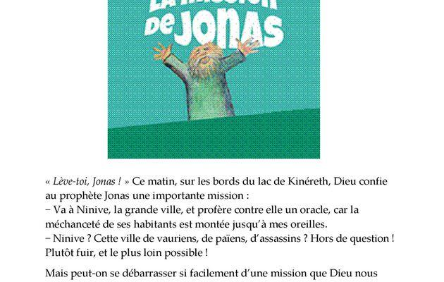 Spectacle Salle Ste Germaine - La Mission de Jonas