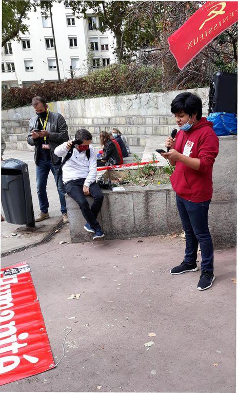 Lyon : Belle journée de lutte pour l'emploi, ce 9 octobre à l'initiave du Parti Communiste Français