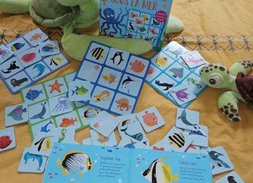 Chouette je joue : Mon coffret livre et jeux sous la mer des Editions Usborne