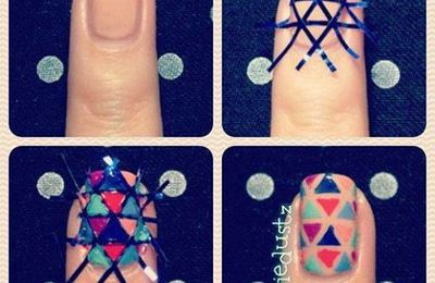 Nail art triangle !♥
