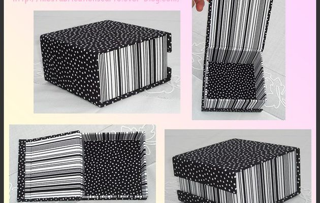 La boîte aimants noire et blanche