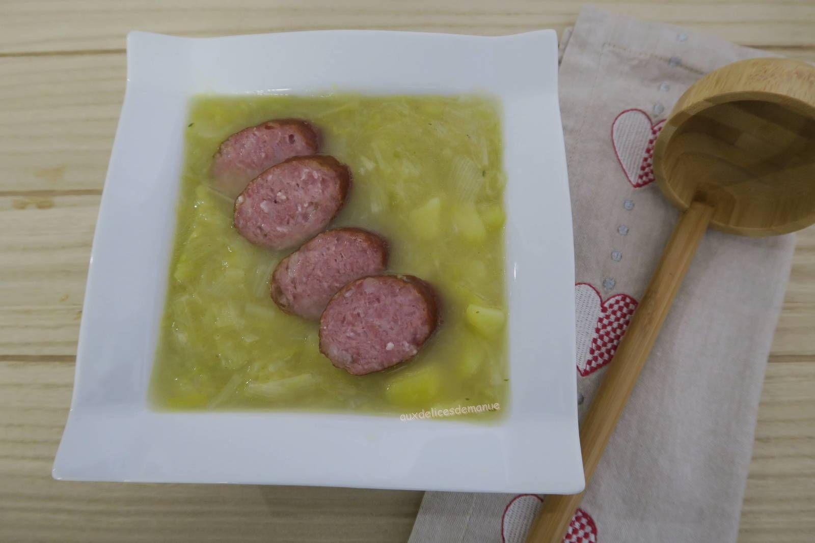 soupe,poireau,pomme de terre,saucisse,Montbéliard,Jura,M. Cuisine,comté