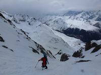 Ski de Rando : Petit Combin 3663 m  par le glacier Pendant - Descente par le glacier des Follats