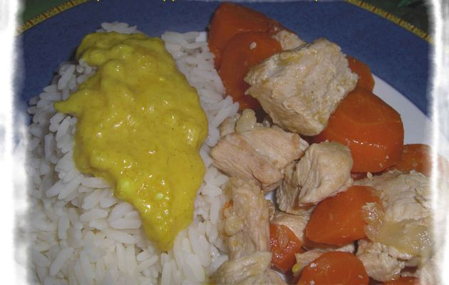 Poulet aux carottes à la bière et à la moutarde