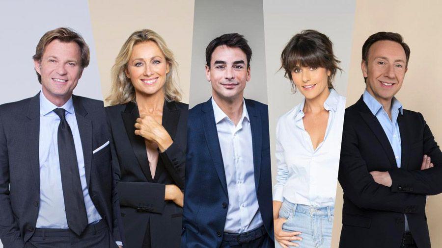 Julian Bugier, Anne-Sophie Lapix et Laurent Delahousse pour le défilé du 14 juillet sur France 2