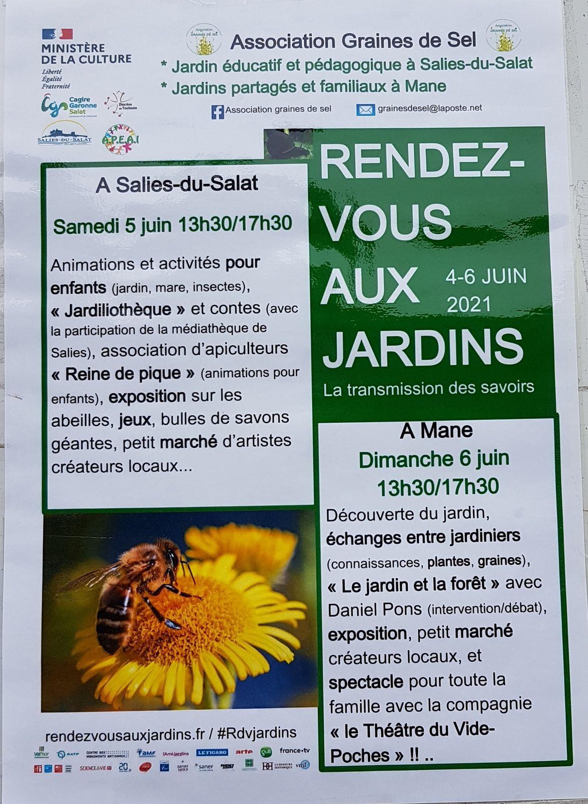 Salies du Salat - Mane - rendez-vous aux jardins du 4 au 6 juin