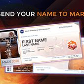Send Your Name to Mars: Mars 2020