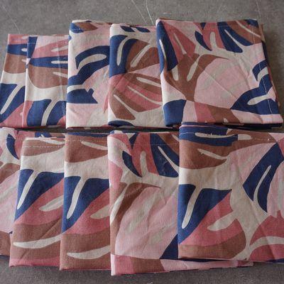 10 serviettes de table pour Camille