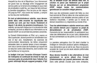 EDF: les administrateurs salariés se rebiffent