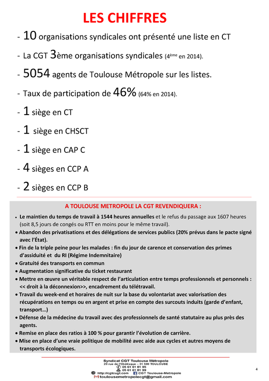 Journal N°3 CGT: SPECIAL ELECTIONS