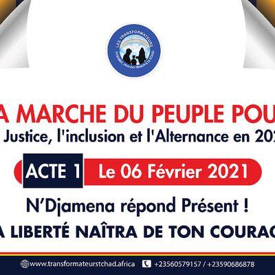 Tchad : Marche du 6 Février 2021 : Succés Masra à la tête d'une grande coalition.