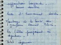 Les notes du 13 août 1970 relevées par Anne-Marie et Maguy - Notes du 14 Août 1970 relevées par Anne-Marie.