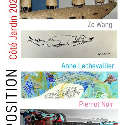 Vernissage des expositions Vendredi 25 Juin à 18h30 Festival Côté Jardin 2021