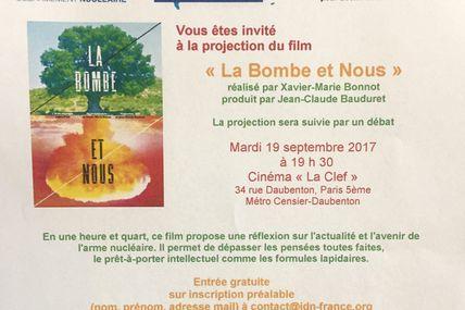 """Invitation à la projection de """"La bombe et nous"""""""