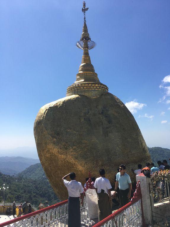 MYANMAR : le ROCHER d'OR (Pagode de KYAIKTIYO)