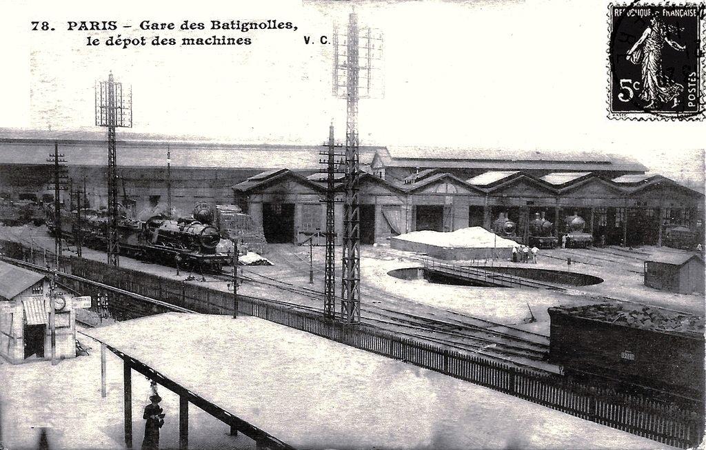 Paris-Batignolles l'ancien dépôt des locomotives (3)