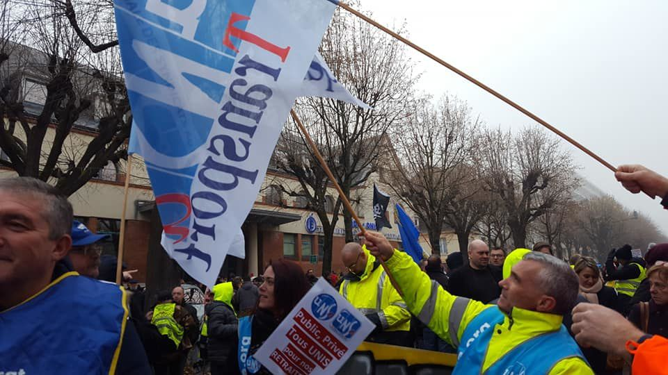 Marne, Reims Manifestation du 05/12/2019 plus de 5000 personnes