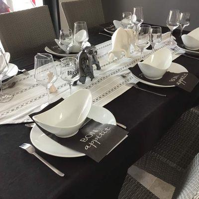 Déco de table, black and white