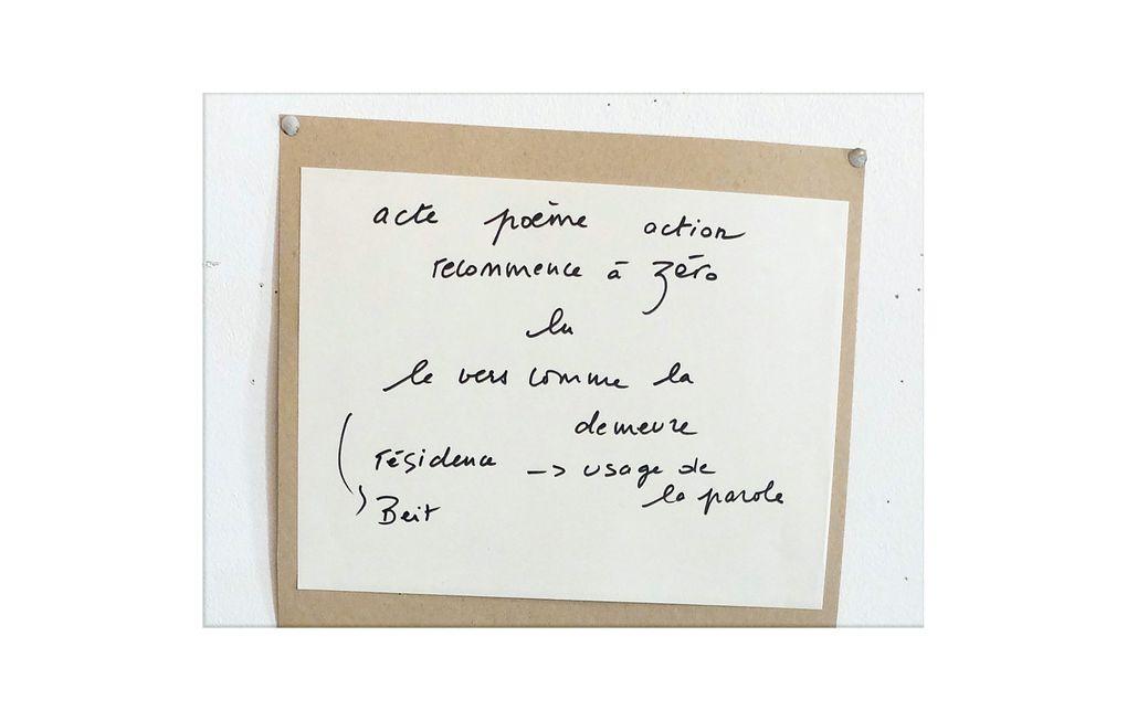atelier et notes