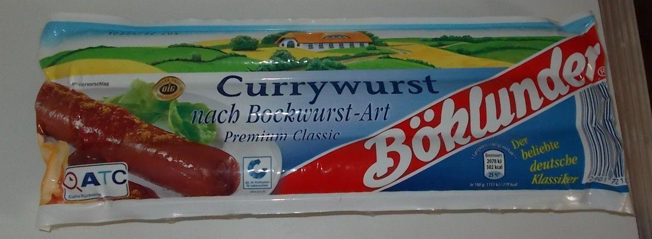 Böklunder Currywurst nach Bockwurst-Art