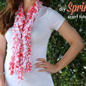 DIY Spring Scarf Tutorial - PinkWhen