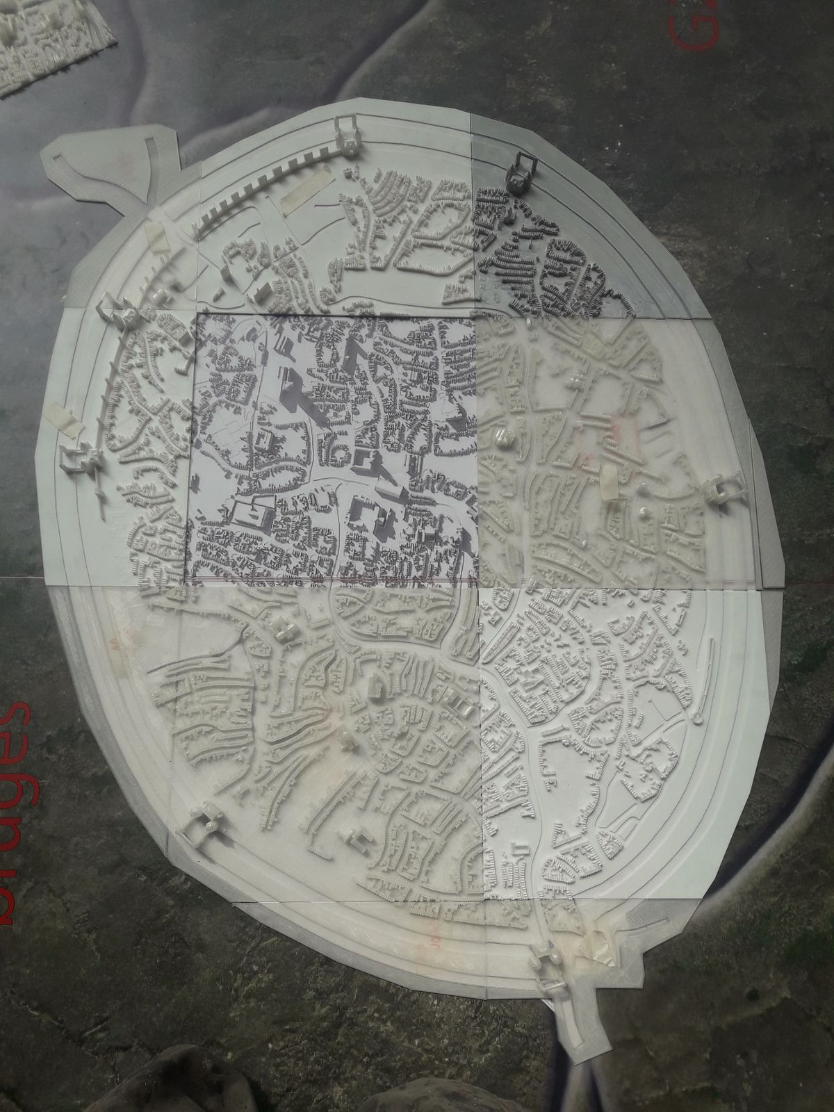 Zwin Natuur Park-maquette pour vidéo mapping