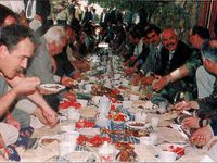 Two reconciliation banquets (Sabah, September 17, 1998 and August 23, 1998). And an election banquet (Milliyet, September 23, 1998)