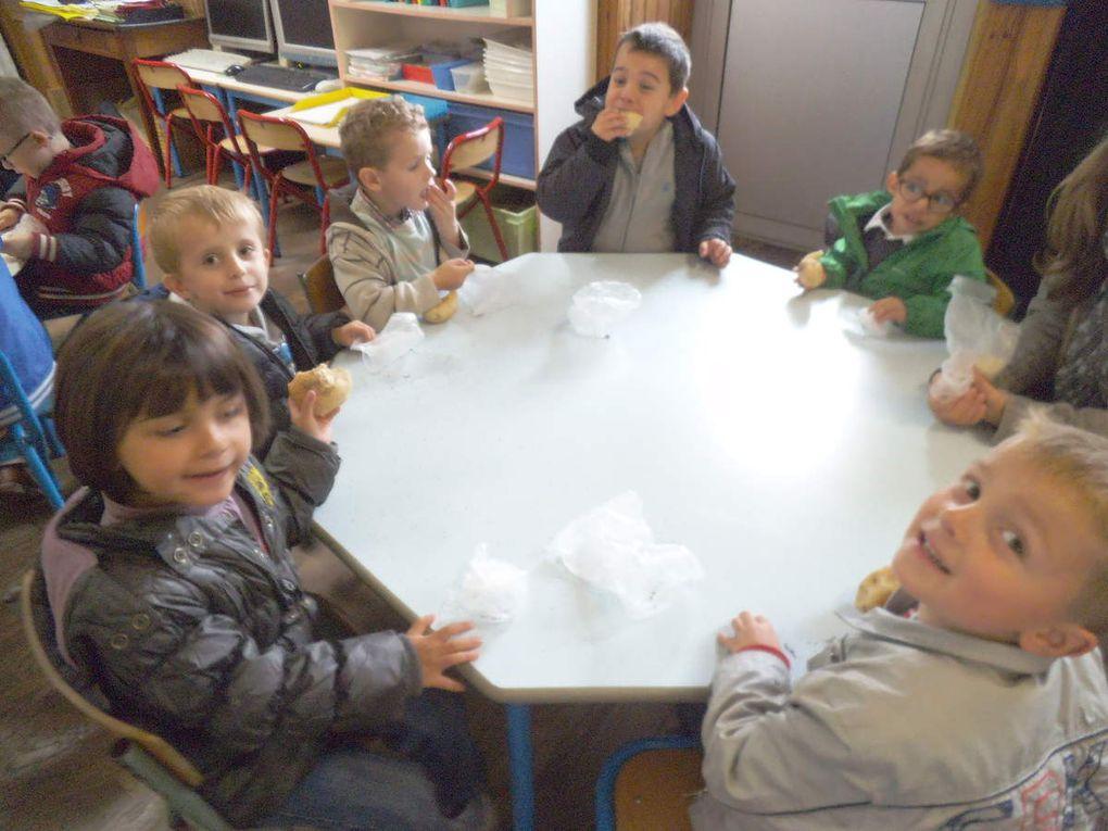 Les élèves de MS-GS à la boulangerie de Bréal-sous-Vitré