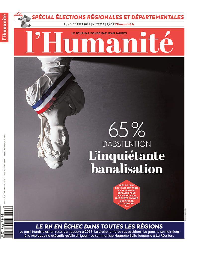 A la une de l'Humanité (28-06-21)