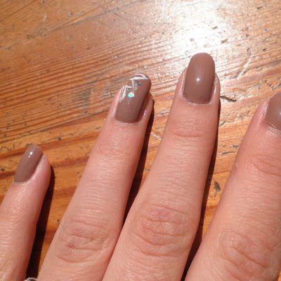 Nail art taupe !!