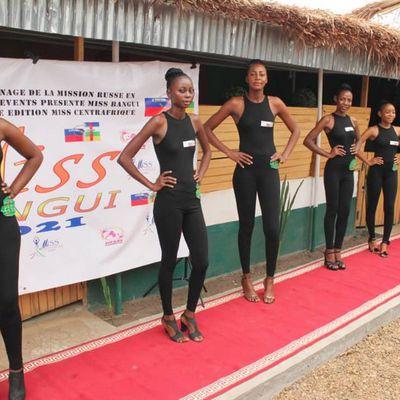10 filles présélectionnées en prélude à l'élection «Miss Bangui 2021» qui se tiendra le 8 mars 2021