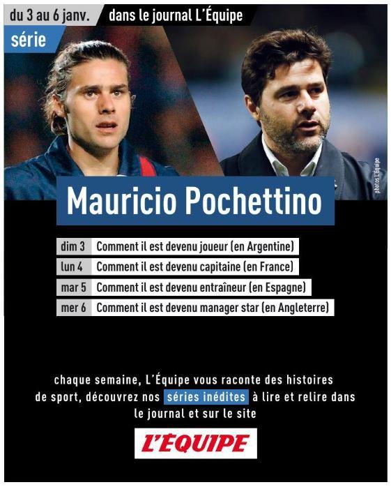 A découvrir ce mardi dans l'Equipe la nouvelle série sur Mauricio Pochettino !