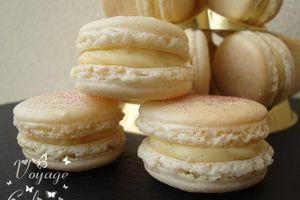 Macarons vanille et rhum ambré