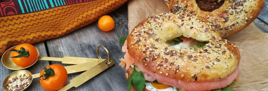 Bagels au Saumon & Fromage Frais Epicé